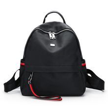 China Alibaba Approved Factory New Model Quality 600D Nylon Women Bag Custom Backpack With Earphone Hole