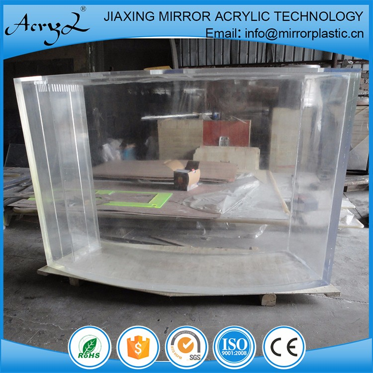 Professional Designer Double arc Acrylic Aquarium Suppliers
