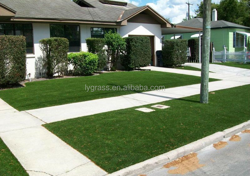 Landscape u shaped artificial grass with cheap prices for Cost to landscape front yard