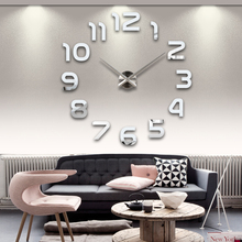 2014 new MAX3 creative living room bedroom mute wall clock watch fun DIY Wall Clock Roman Numerals