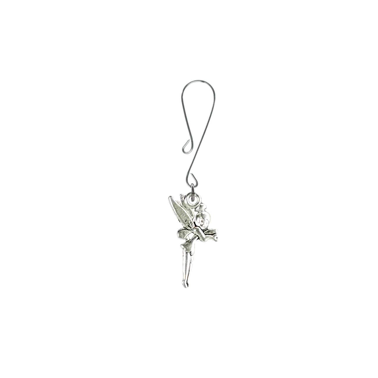 678357fcc Get Quotations · Party Silver Tinkerbell Fairy Charm on Curl Loop Clit  Clamp includes organza gift storage bag