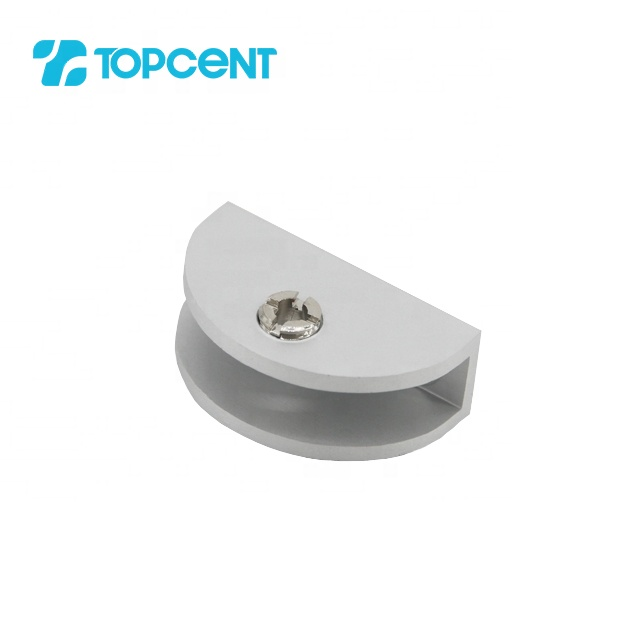 TOPCENT zinc alloy cabinet floating shelf clips bathroom glass railing clamp support