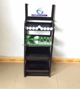 Customized 4 Tiers Floor Standing Golf Ball Display