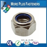 Made in Taiwan DIN 985 304 Stainless Steel M10 Self Locking Hex Nylon Insert Lock Nut