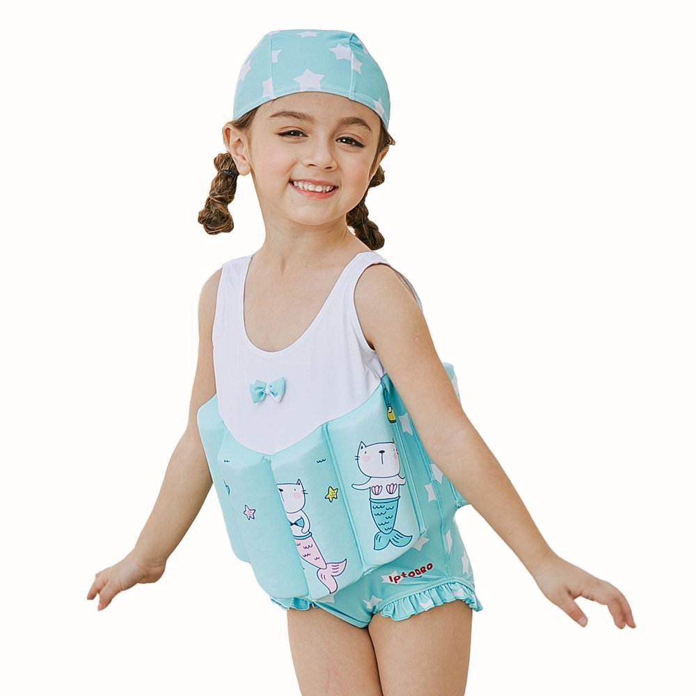 45bc4376e0 Get Quotations · Kingswell Float Suit Toddler Swimsuit Kids Swim Training  Aid Jacket Vest Suit with Removable Buoyancy Float