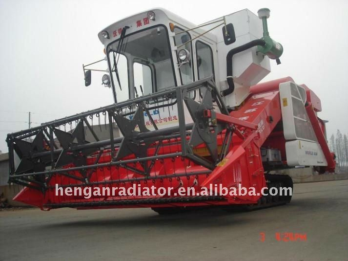 CE 4LZ-3.5 rubber track Wheat combine harvester with 2880mm cutting width