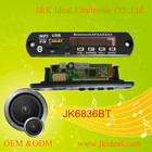 JK6836BT usb sd card 12V bluetooth circuit board FM mp3 player sound module