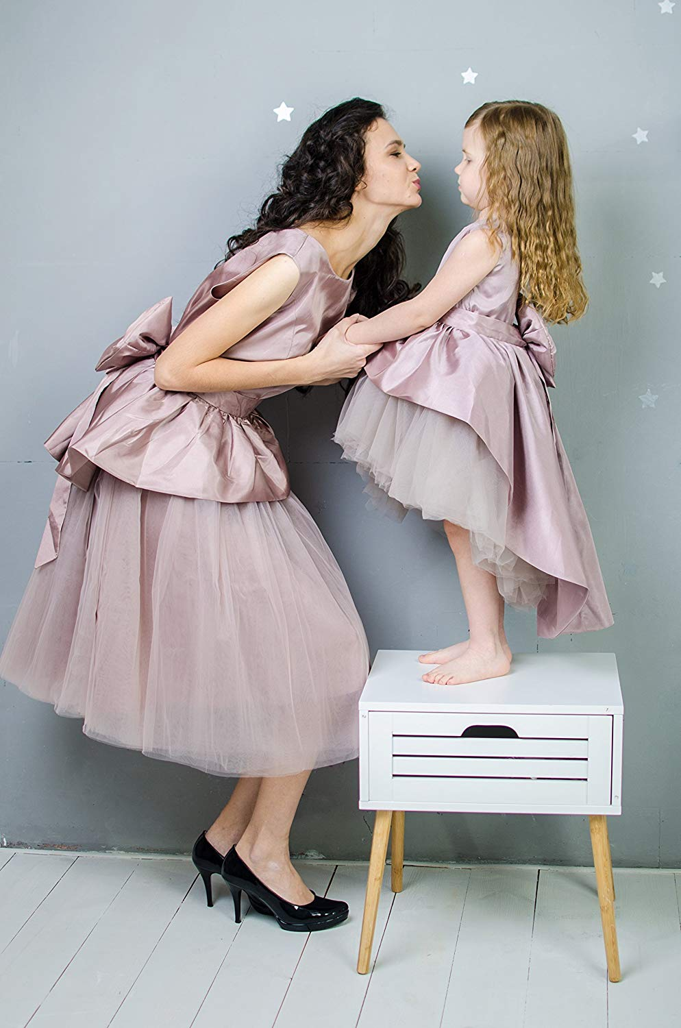 c52a35cbf6 Get Quotations · Matching Party Dresses Mother Daughter Matching Dress  Outfits Mommy and Me Formal Dresses Taffeta and Tulle