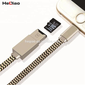 20cm Short Charging Cable Multi-Function USB data Cable SD TF Card Reader Cables for iPhone for ipad