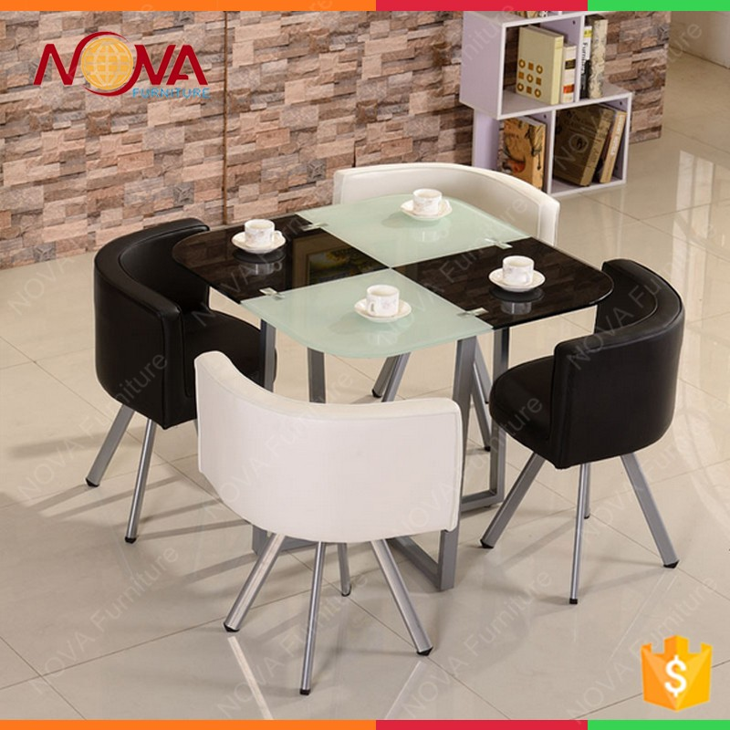 dining room furniture glass metal 4 chairs dining table