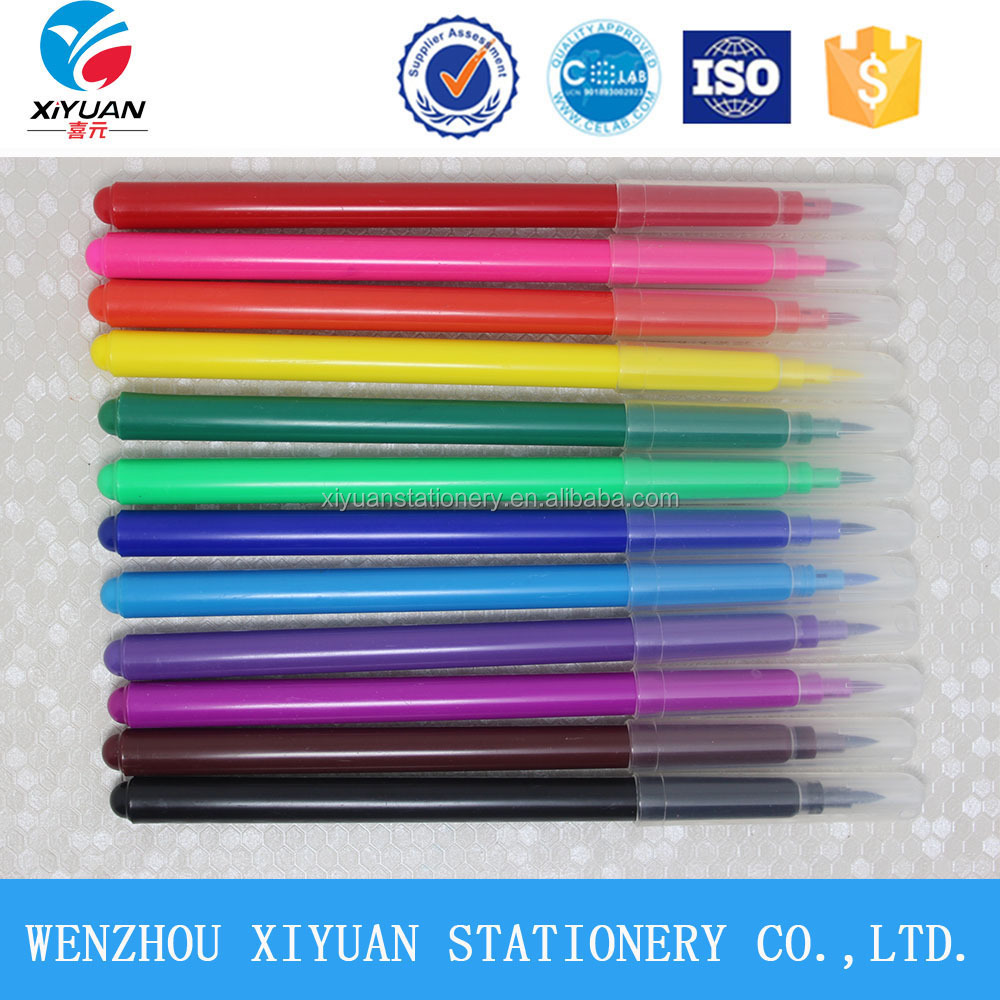 Students Sketch Painting Water Color Marker Pen With Brush