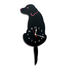 UCHOME Materiale Acrilico A Forma di Cane Battery Operated Animale Decorativo Orologio <span class=keywords><strong>Da</strong></span> <span class=keywords><strong>Parete</strong></span> Con Swing Code Per La Camera <span class=keywords><strong>Da</strong></span> Letto, Soggiorno