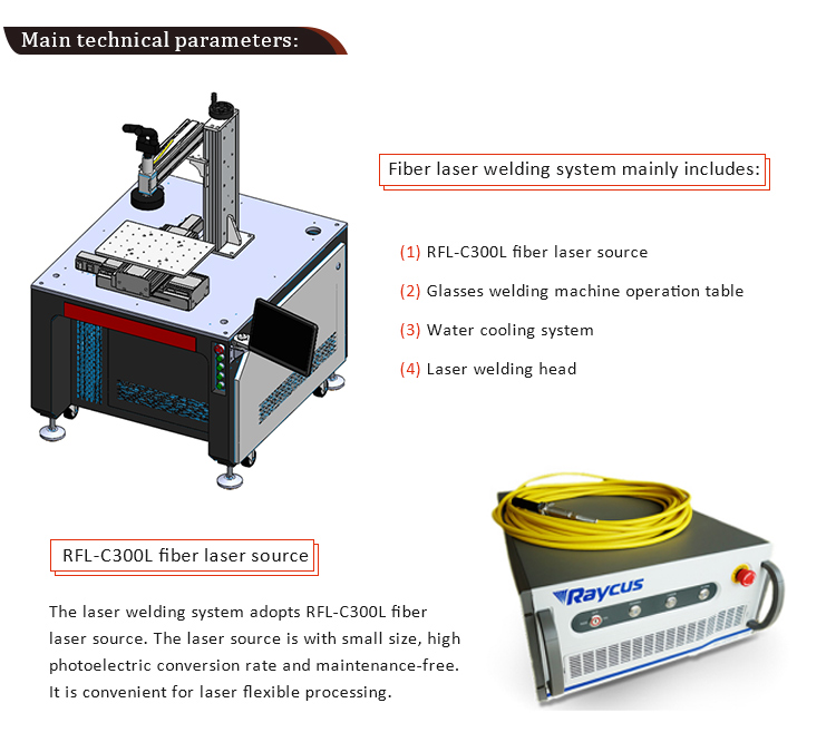 High Performance Laser soldering Welding Machine Automatic Titanium Eyeglass Frame Laser Welding Machine