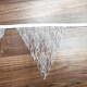 Burlap Chic Lace Jute Banner, DIY Decoration Vintage Triangle Bunting 12Pcs Flag Cloth For Wedding Birthday Party