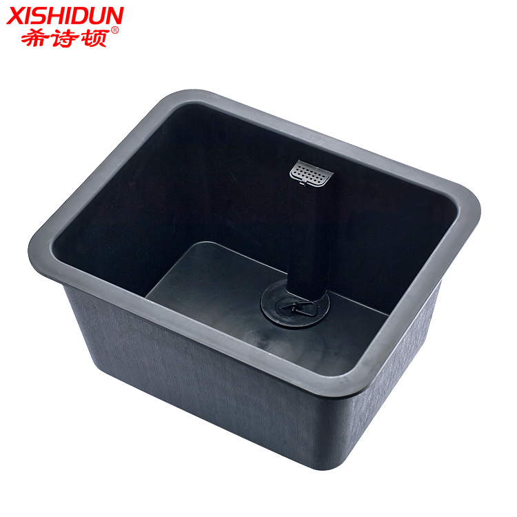8104AY Anti Flow out Black Lab PP sink Fitting