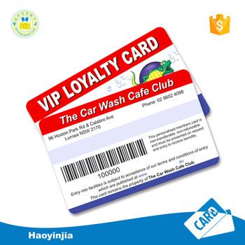 Factory Printing Barcode Plastic Pvc Membership Card  Buy