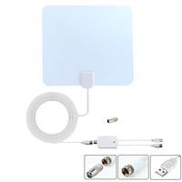 Factory Price Hot selling Flat HD Digital Indoor Amplified TV Antenna Order by Phone - 50 Miles Range DVB-T ISDB Free Sample