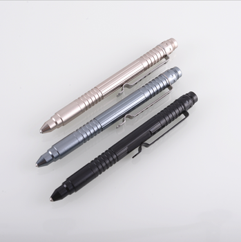Self Defense Tactical Pen Military Survival Tool, Aircraft Aluminum Smooth Writing Ballpoint Instrument