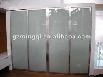 Aluminum Kitchen Roller Shutter Door Frosted Glass Closet