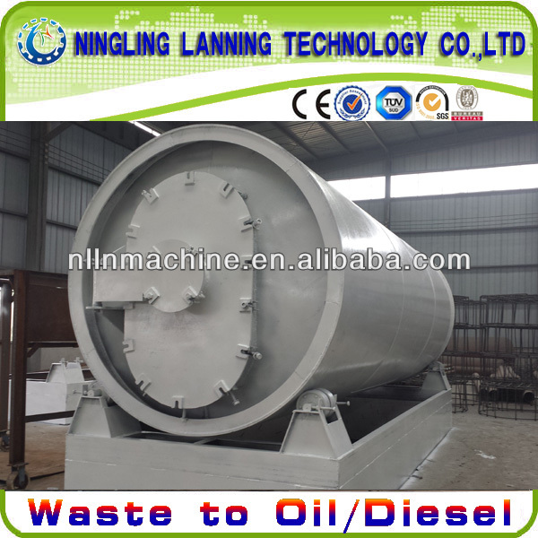 full automatic used tire recycling to oil equipment