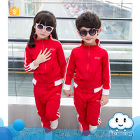 AS-453B children 's clothing spring suit 2017 new boys and girls uniforms sports two pieces sets