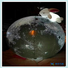 Custom fashion inflatable moon/inflatable lighting moon ball with rabbit