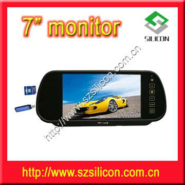 7-Inch TFT LCD Color wide Screen Car Back up Rearview Monitor + Remote Control