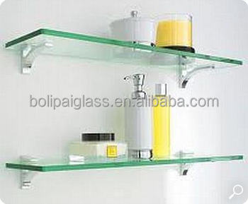 Wall Mount Floating Gl Shelf Tempered
