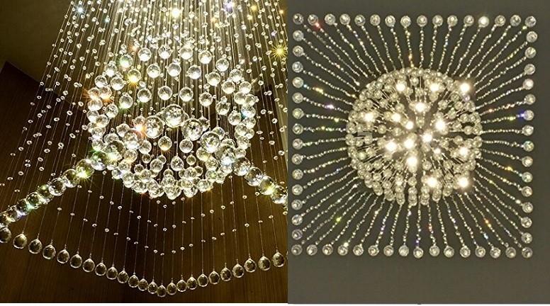 Plafoniere Per Scale : Linght moderno di lusso rain drop lampadario cristallo plafoniera