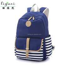 2015 Hot Canvas Teenage Backpack with Shoulder Pad,wholesale Kids school bag for students,custom school bag