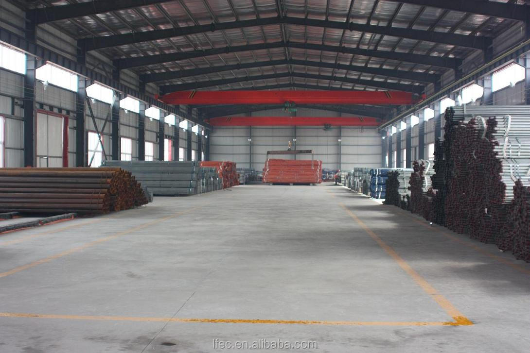 Light Guage Space Roof Structure Prefab Steel Warehouse