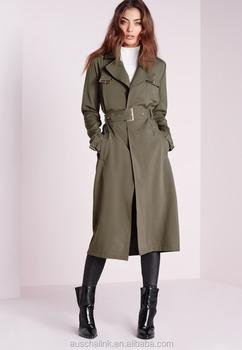 49ec0abc92 hot sale european style women khaki military trench coat