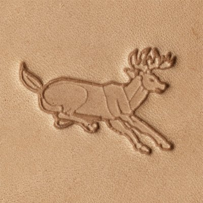 Springfield Leather Company Leaping Deer 3D Leather Stamp (Right Facing)