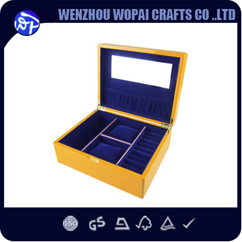 luxury glossy lacquer wood custom color frame and compartements jewelry watch gift wooden box