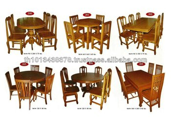 Good Teak Wooden Dining Room Set Table Chair From Thailand Buy