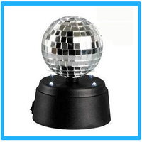 Multi LED Wedding Xmas Halloween Mirror Ball,No Blind Angle Party Flashing Lighs