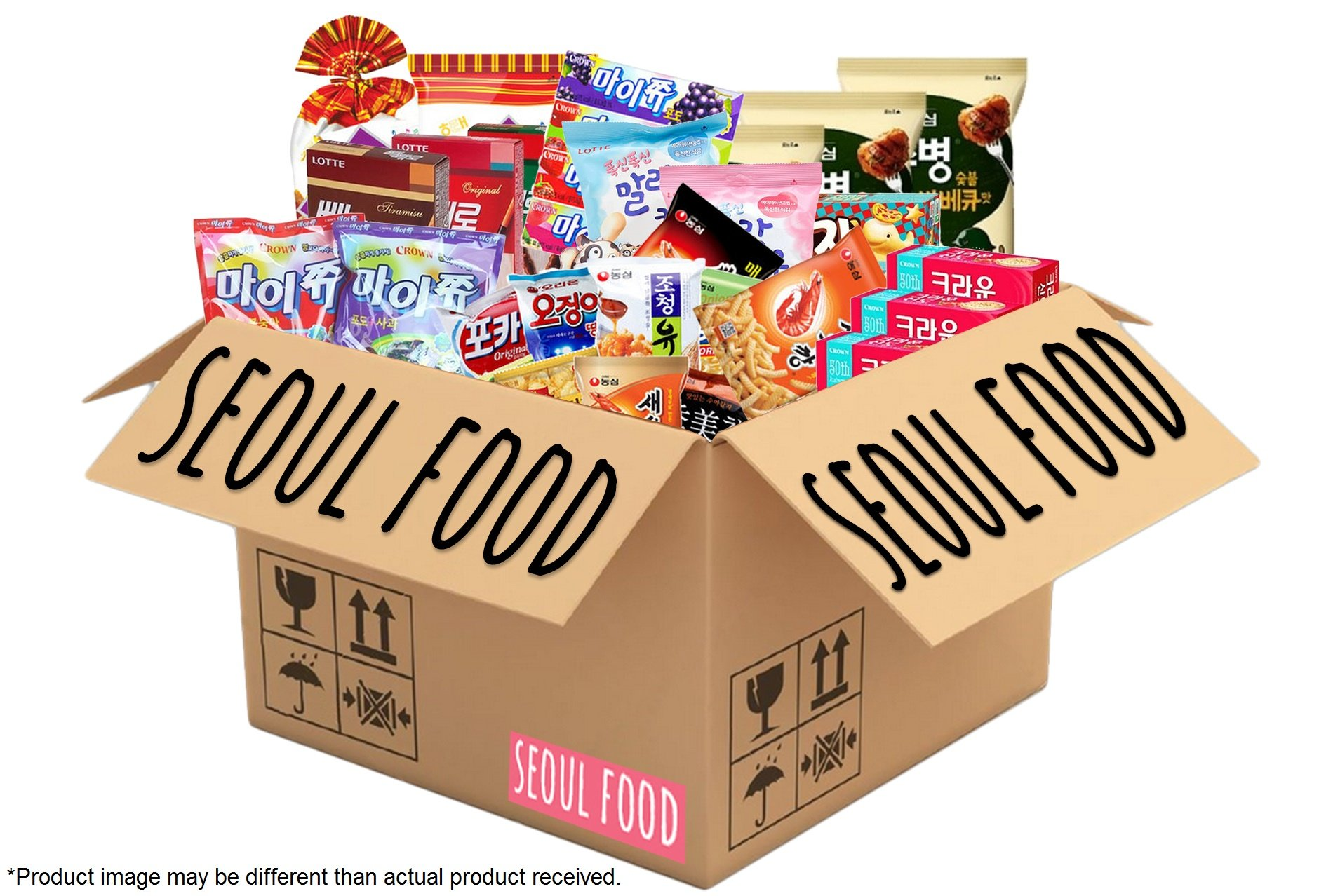 Classic Korean Snack Box | College Care Package | Korean Candy, Snacks and Cookies (Classic Korean Snack Box, 28 Count) (Party Box)