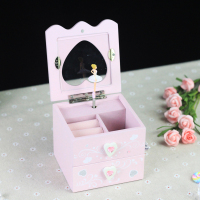 JAYI manufacturer custom Handmade music gift box wooden ballerina for music box