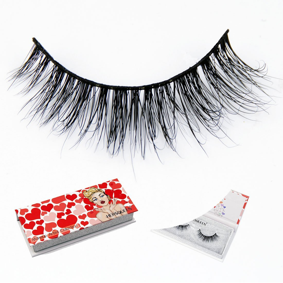 197e936ea82 Get Quotations · High End Makeup 3D Mink Lashes 100% Cruelty-Free Siberian  Mink Fur Fake Lashes