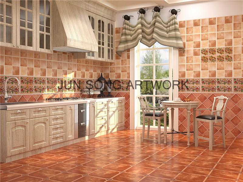 Js disegno di frutta limone modello ceramic tile cucina