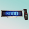CE P6mm 7X35pixel blue DIP high bright indoor led scrolling sign,English,Russian,Spanish