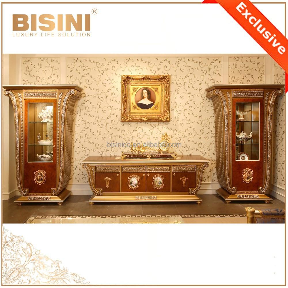 Fran ais luxe louis xv style meuble tv en bois avec for Meuble tv louis xv