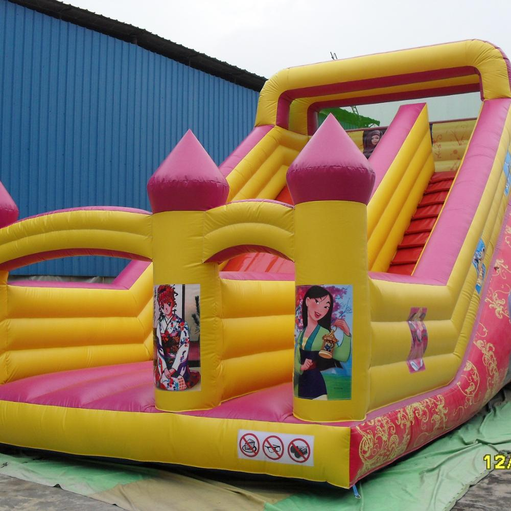 New finished inflatable dry slide bouncer inflatable happy climbing adults baby slide