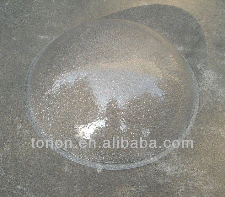 ISO9001,SGS 3mm factories domes PC93 polycarbonate solid dome for round skylights
