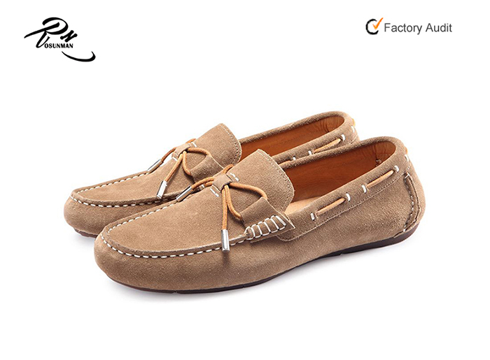 shoes leather men men shoes on driving moccasin with Fashion slip casual loafer suede lace qUzqxZE