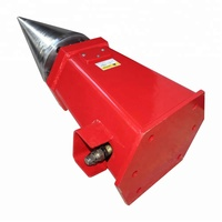 Excavator screw cone log splitter