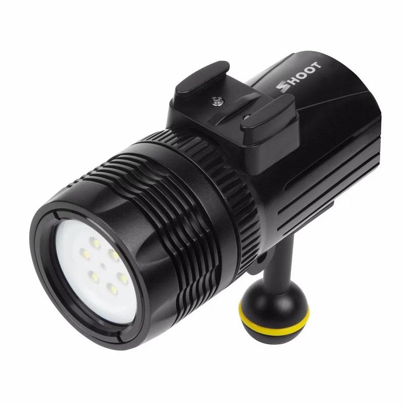 Shoot Underwater Diving Flashlight Torch Light for GoPro Hero 7 6 5 xiaomi Sjcam