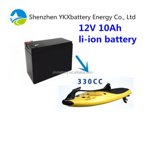 Waterproof replacement battery pack 12v 10Ah li-ion rechargeable battery  for Watersport electric surfboard