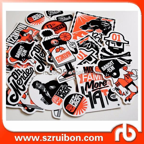 Custom Full Color Vinyl Die Cut Pack Stickers Skateboard Snowboard - Custom die cut vinyl stickers snowboard