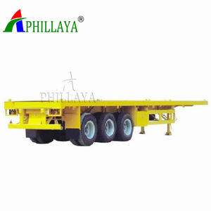 2 Axle 20ft 40ton Flatbed 40ft Container Trailer Price In India